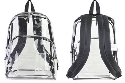 Two clear backpack images