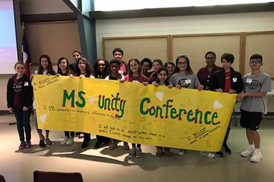 The inaugural Middle School Unity Conference brought together students from across North East ISD