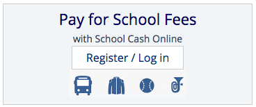 school Cash login button