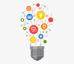 light bulb with data images clipart
