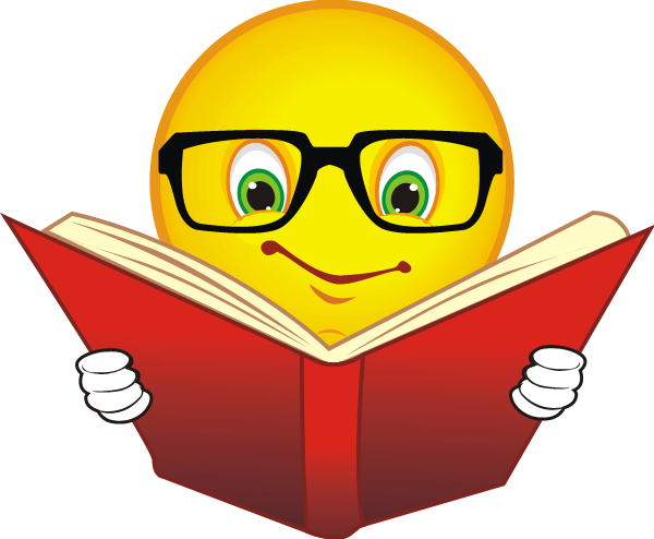 Emoji reading a book