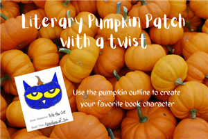 pumpkins with a picture of Pete the cat pumpkin